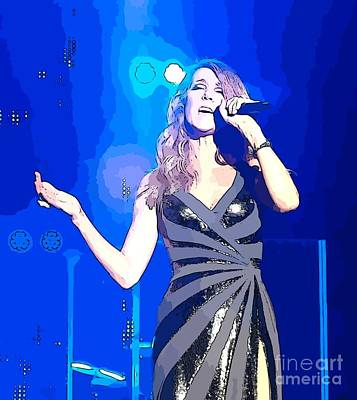 Celine Dion Photograph - Celine Dion Abstract by John Malone