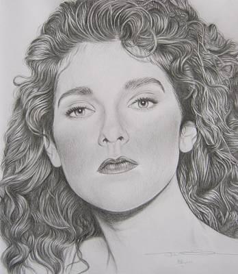 Celine Dion Drawing - Celine Dion by Amanda Li