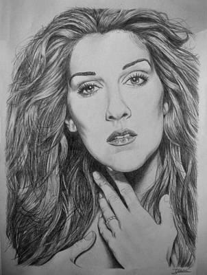 Celine Dion Drawing - Celine Dion by Jesus Catalan
