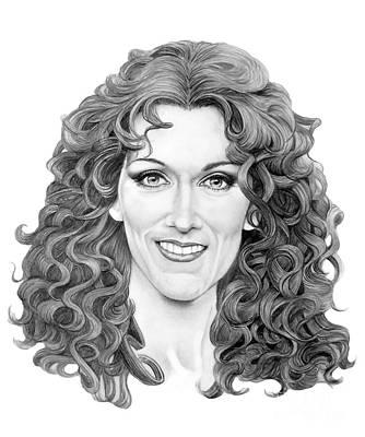 Celine Dion Drawing - Celine Dion by Murphy Elliott