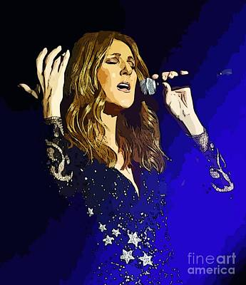 Celine Dion Painting - Celine Dion Poster Art by John Malone