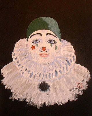 Celine The Clown Art Print by Arlene  Wright-Correll
