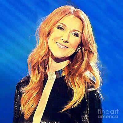 Celine Dion Photograph - Celine Watercolor by John Malone