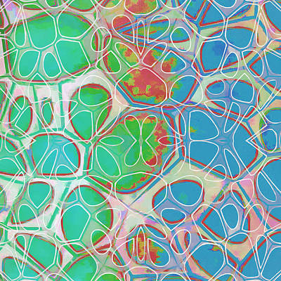 Shape Painting - Cell Abstract 10 by Edward Fielding