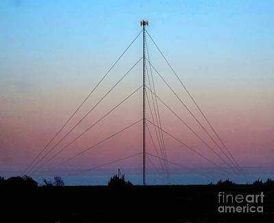 Photograph - Cell Phone Tower At Sunset by Janette Boyd