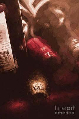 Cellar Photograph - Cellar Wine Bottles Fine Art by Jorgo Photography - Wall Art Gallery