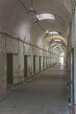 Photograph - Cellblock Hallway by Tom Singleton