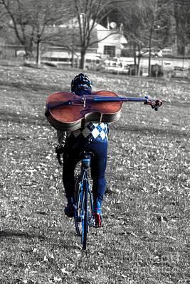 Cyclist Photograph - Cellist By Bike  by Steven Digman