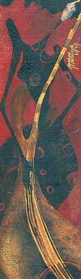 Art Print featuring the painting Cellist by Maya Manolova