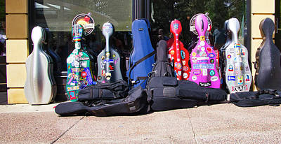 Photograph - Cello Cases - Madison - Wisconsin by Steven Ralser