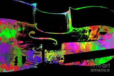 Mixed Media - Cello by David Millenheft