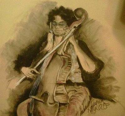 Painting - Cello by Diana Kaye Obe