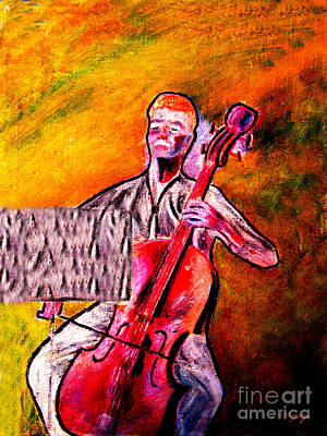 Painting - Cello Expressions by Tom Conway