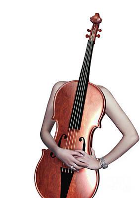 Fashion Photograph - Cello Girl  - 4 by Prar Kulasekara