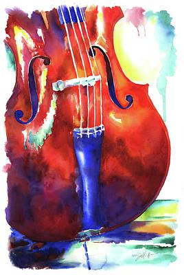 Wall Art - Painting - Cello by Jamie Hansen