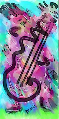 Digital Art - Cello by Jason Nicholas