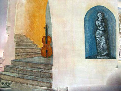 Painting - Cello No 2 by Richard Le Page