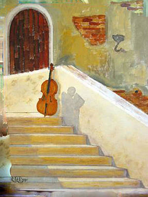 Painting - Cello No 3 by Richard Le Page