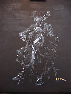 Painting - Cello Player by Richard Le Page