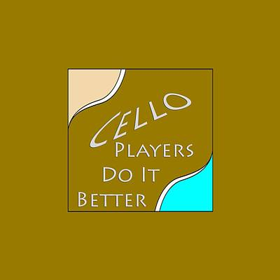 Photograph - Cello Players Do It Better 5661.02 by M K Miller
