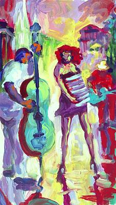 Cello Art Print by Saundra Bolen Samuel