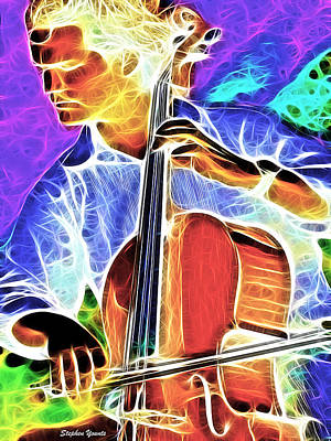 Cellist Digital Art - Cello by Stephen Younts