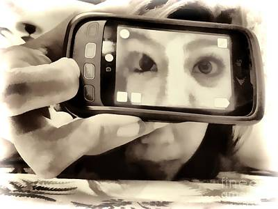 Photograph - Cellphone Eyes by Joe Lach