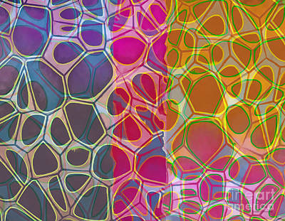 Geometric Artwork Photograph - Cells 10 Abstract Painting by Edward Fielding