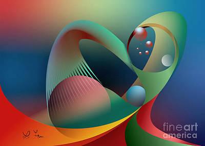 Digital Art - Cells Path by Leo Symon