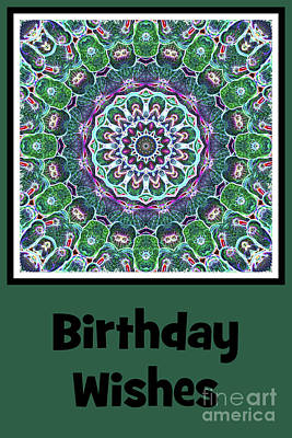 Digital Art - Cellular - Birthday Wishes Card by Wendy Wilton