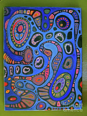 Painting - Cellular Fantasy In Blue by Anne Havard