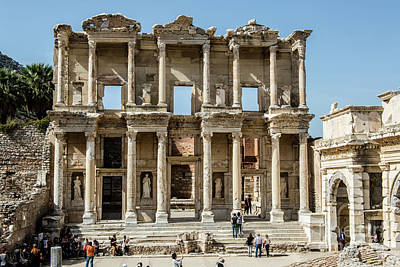 Photograph - Celsus Library by Kathy McClure