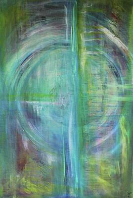 Painting - Celtic Vision  #1 by Carrie Godwin