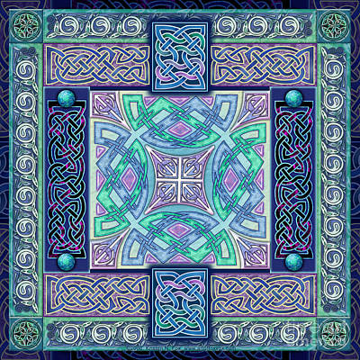 Print featuring the mixed media Celtic Atlantis Opal by Kristen Fox