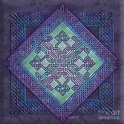 Print featuring the mixed media Celtic Avant Garde by Kristen Fox