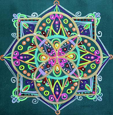 Wall Art - Painting - Celtic Bliss by Angel Fritz