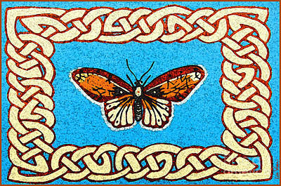 Celtic Butterfly Art Print