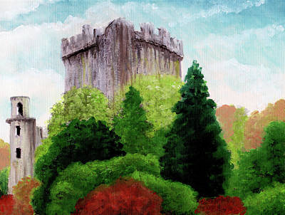 Painting - Celtic Castle by Gary Sanchez