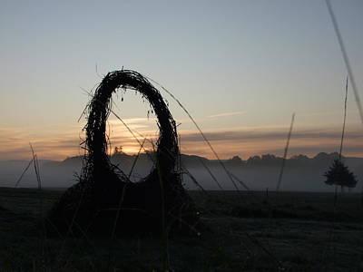 Welsh Goddess Photograph - Celtic Circle Dawn-02 by Pat Bullen-Whatling