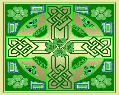 Celtic Clover Knot Art Print by Mike Sexton