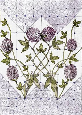 Celtic Clover Art Print