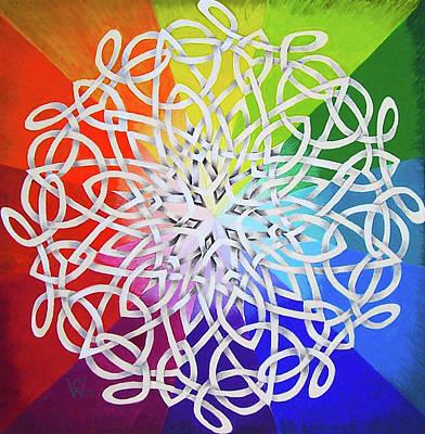 Celtic Color Interlaced 1 Art Print