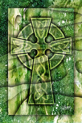 Digital Art - Celtic Cross 01a by Tim Thomas