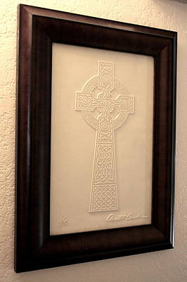 Glass Art - Celtic Cross 1 by David Dunham