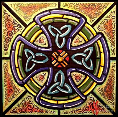 Art Print featuring the painting Celtic Cross 2 by Jim Harris