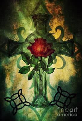Digital Art - Celtic Cross 2 by Maria Urso