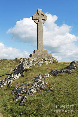 Celtic Cross Photograph - Celtic Cross, Anglesey, North Wales, Uk by Amanda Elwell