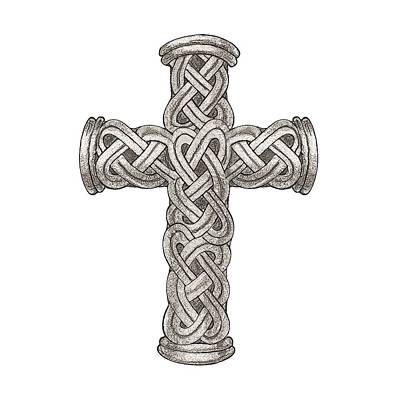 Digital Art - Celtic Cross B997 by Deborah Runham