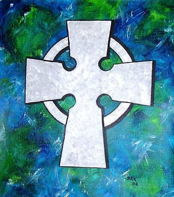 Celtic Cross Art Print by Bo Klinge