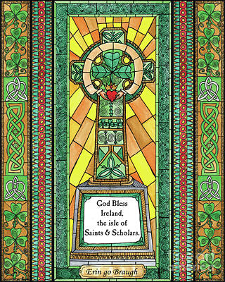 Painting - Celtic Cross by Brenda Nippert
